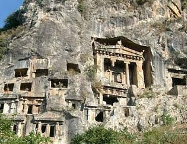 Fethiye Kral Amyntas Kaya Mezarları